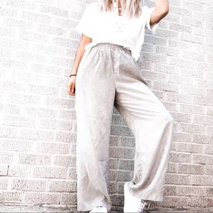 Pants - 🏷Vintage high waisted taupe marled trousers